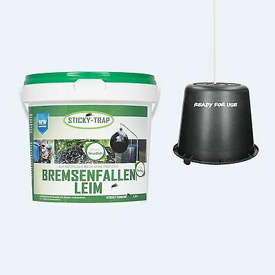 Sticky Trap Brake traps glue with pail - 1,5 Litre Latch Insect protection Horse