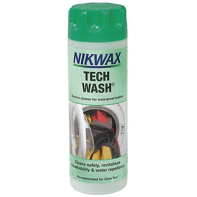Nikwax Tech Wash 300ml Wash-in Cleaner for Waterproof Clothing and Equipment