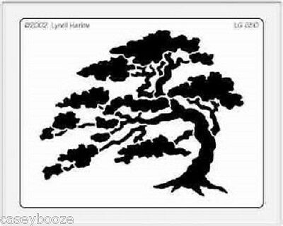 Dreamweaver Stainless Steel Embossing Stencil - Cedar Tree - Template