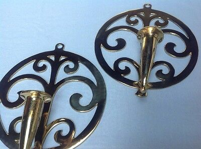 Pair Of Vintage Virgina Metalcrafters Spouting Waters Sconces