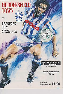 HUDDERSFIELD TOWN v BRADFORD CITY 91-92 LEAGUE MATCH