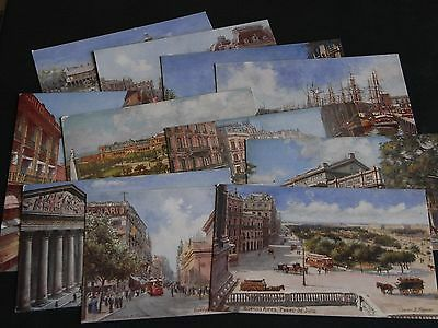 Eleven Original Tuck Rmsp Shipping Postcards - Buenos Aires (Six By C.flower).