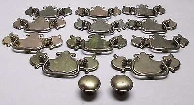 13 Brass Drawer Pulls Cabinet Door Cupboard Hardware Handles Knobs Chippendale