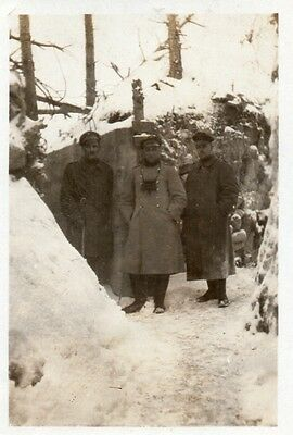 Photo allemande Soldat au poste d'observation à KANONENBERG Main de MASSIGES WW1