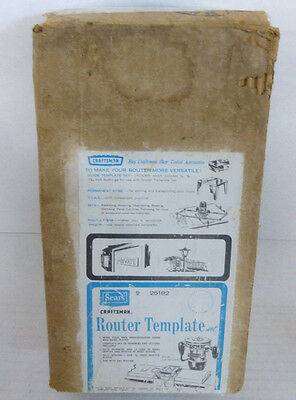 """Vintage Sears Craftsman Router Template 9 25182 w/ Letters & Numbers for 5/8"""""""