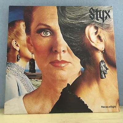 STYX Pieces Of Eight 1978 UK Vinyl  LP Record  Excellent Condition  A