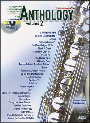 Saxophone Anthology Volume 2 Alto Sax Sheet Music Book & Backing Tracks CD