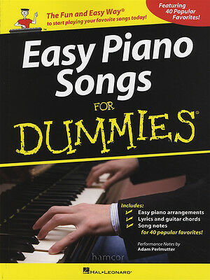 Easy Piano Songs for Dummies Sheet Music Book 40 Popular Favorites