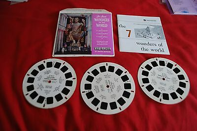 View Master Packet Ref B 901 The Seven Wonders Of The World +  Booklet