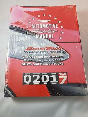 Access Tools Automotive Lock Out Manual