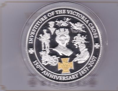 2007 Boxed 5 Ounce Silver Proof Medal Victoria Cross With Certificate