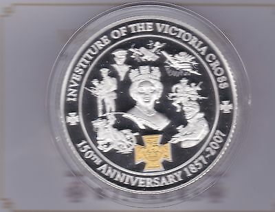 Boxed 2007 Five Ounce Silver Proof Medal Victoria Cross With Certificate