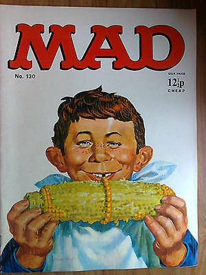 MAD, No 130, UK Issue, VINTAGE- priced at 12 1/2p, features The Cowboys.. 1970s