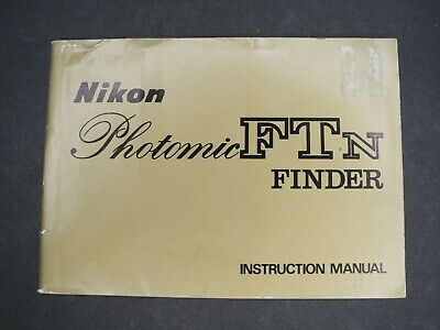 Nikon Photomic FTN Finder Camera Instruction Book / Manual / User Guide