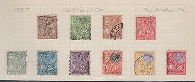 MALTA 167-176 Geo V heads 1930 used