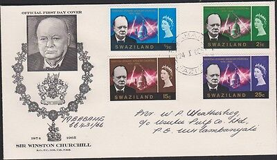 SWAZILAND 255-8 1966 Churchill set FDC