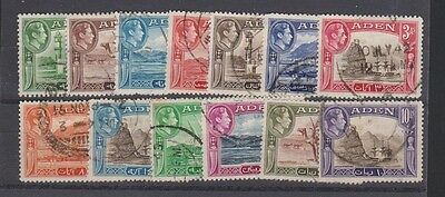 ADEN 16-27a Complete set to 10rs. Used 1939-48
