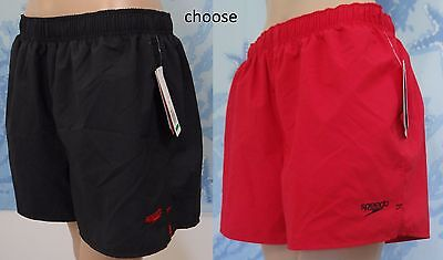 f6326823f3 NWT SPEEDO black or red Surf Runner Volley Men's swim board shorts, size L  or