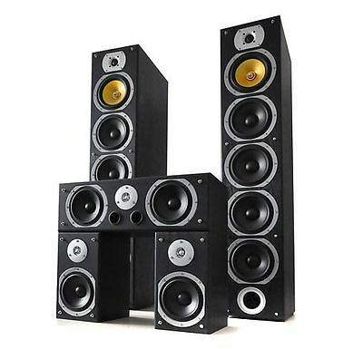 Sistema Home Cinema Altavoces Torre estanteria 1240W Amplificador sonido Cables
