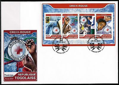 Togo 2017 Red Cross Sheet First Day Cover