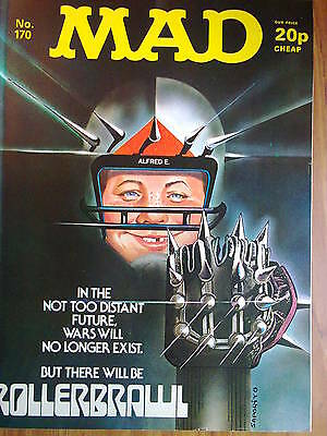 MAD, No 170, UK Issue, VINTAGE- priced at 20p, features Rollerball