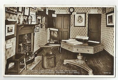 re scotland scottish postcard gretna green marriage room