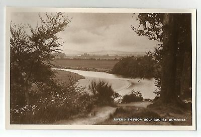re scotland scottish postcard river nith from golf course dumfries