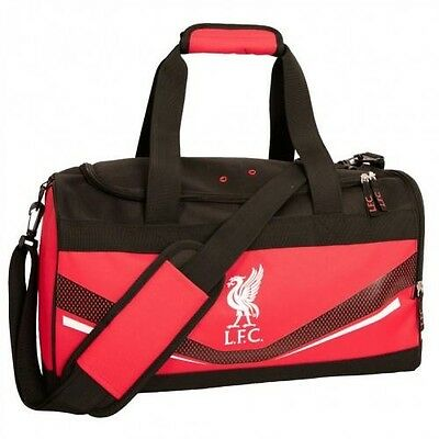 Liverpool Football Club Crest Large Red & Black Sports Bag Holdall SW FREE UK PP