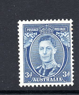 Australia (956)  1937 King George V1   3d Dia 11 lightly mounted mint Sg168c