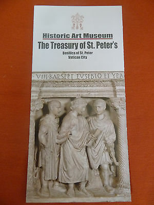 Vatican City Historic Art Museum Leaflet Of The Basilica Of St.peter