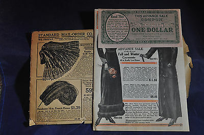 Ca 1912 Standard Mail Order Catalog, New York.  Womens Fashions & Shoes