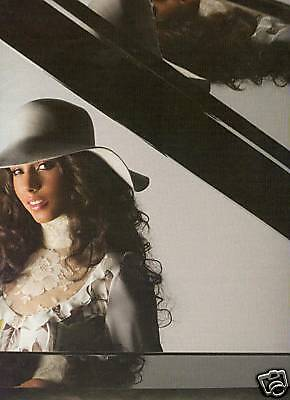ALICIA KEYS Photo Promo Poster Ad REFLECTION IN PIANO