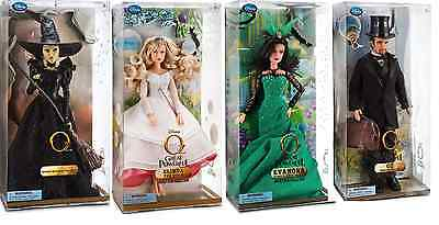 4 NEW Wizard of OZ Great & Powerful Wicked WITCH DOLL SET Glinda Oscar Diggs NIB