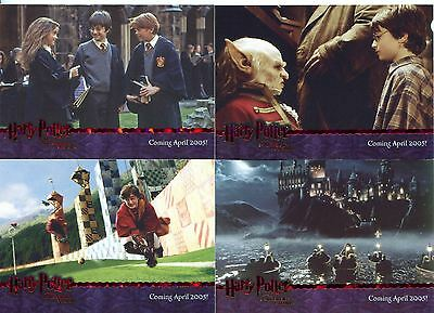 Harry Potter Sorcerers Stone Complete Red Stamped Promo Card Set 1-4