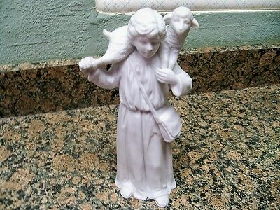 Homco Nativity Collectibles Shepherd Lamb White 5620 Bisque Matches Avon