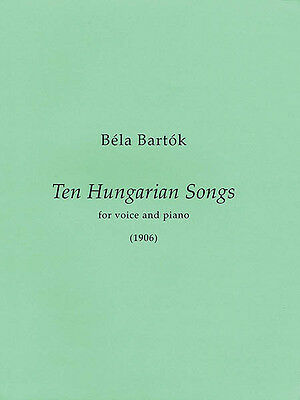 10 Hungarian Songs Medium/High Voice Classical Vocal Piano Sheet Music Book NEW