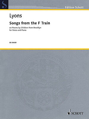 Gilda Lyons Songs from the F Train Vocal Piano Classical Sheet Music Book NEW