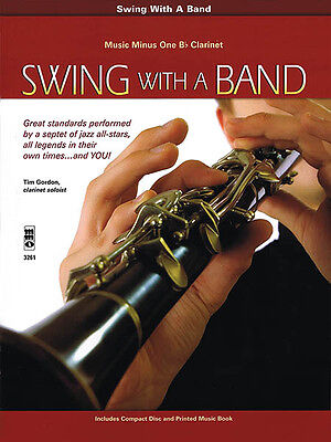 Swing with a Band Bb Clarinet Jazz Sheet Music Minus One Play-Along Book CD NEW