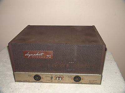 Dynaco ST70 Stereo Tube Amplifier with Cage   Needs Tubes~ For Parts or Repair