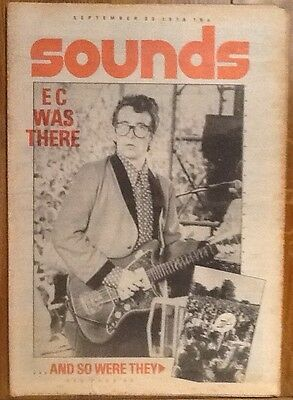 Sounds Magazine 30 September 1978 Elvis Costello Led Zeppelin David Bowie ELO
