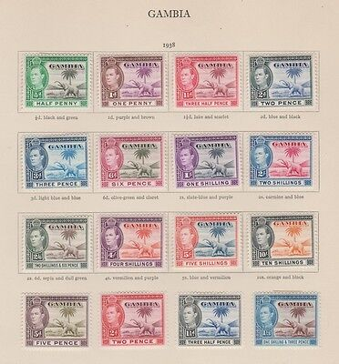 GAMBIA 132-143 Geo VI set 1938-46 complete to 10sh mint