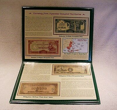 World War 2 Currency & Coins of Occupied Countries - WWII  Postal Commemorative