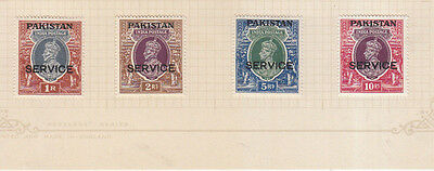 Pakistan 1947 Service  Opt Set Mint To 10 Rupees 13 Values