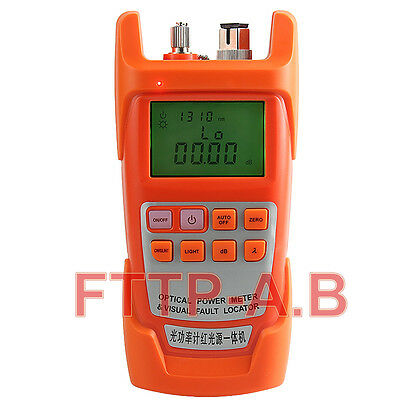 New All-in-One Fiber Optical Power Meter&15-20km 20mW Visual Fault Locator 2 in1