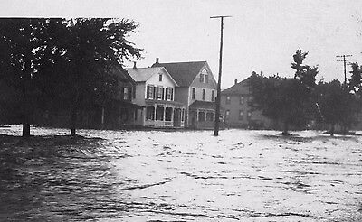 Vtg 1940 - 1950's (Santa Cruz?) California City Flood Flooding Disaster Photo #1