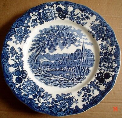 Palissy Royal Worcester Blue And White AVON SCENES Circa 1950