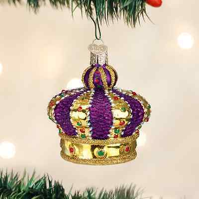 Crown Of Royalty Ornament Old World Christmas NEW IN BOX Mardi Gras Colors