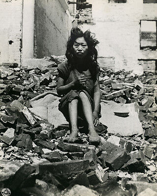 1945 MR China Starving Chinese Woman in Liuchow City 8x10 Photo