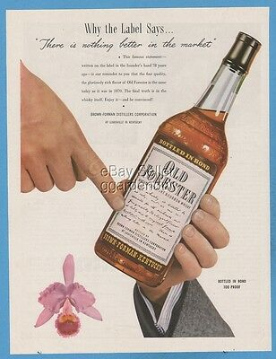 1948 Old Forester Whisky Brown Forman Distillers Louisville Kentucky Label Ad