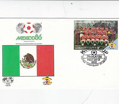 St Vincent Union Island 1986 World Cup Mexico HUNGARY FDC Unadressed